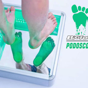 Podoscope Podoscoop Big Foot Aluminium met Led Verlichting