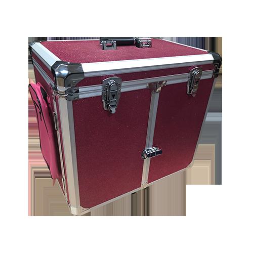 Pedicurekoffer met Trolley Roze Rood Glitter