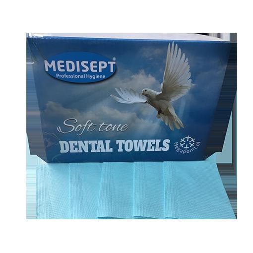 Medisept Dental Towels Soft Tone Kleur Blauw Extra Zachte Kwaliteit
