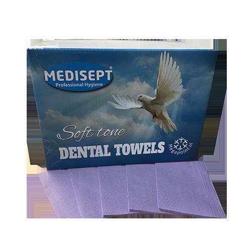Medisept Dental Towels Soft Tone Kleur Paars Extra Zachte Kwaliteit