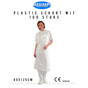 Schorten Plastic Wit pak 100 stuks
