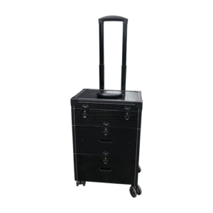 Visagie Koffer Zwart Croc Design