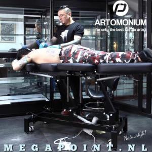 Artomonium Tattoo Behandelstoel Zwart