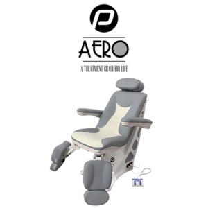 Pedicure Behandelstoel Aero in Grijs Wit Kleurcombinatie