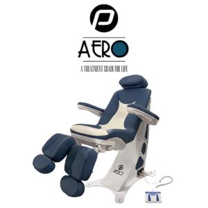 Pedicure Behandelstoel Aero in Blauw Wit Kleurcombinatie