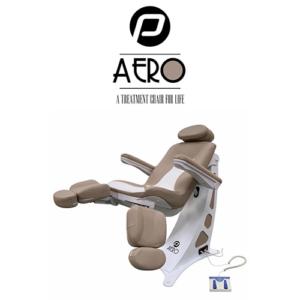 Pedicure Behandelstoel Aero in Bruin Wit Kleurcombinatie