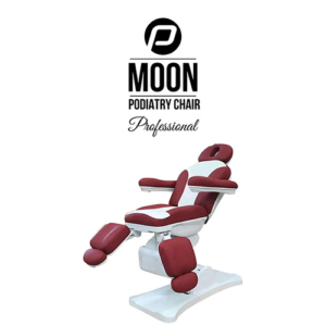 Behandelstoel Moon in Donkerrood Wit Kleurcombinatie Wat een Pedicure behandelstoel de Moon van P Clinic! Tot grote hoogte is dit top model in te stellen.