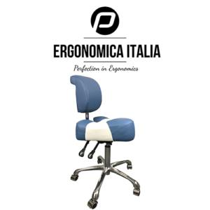 Tabouret Ergonomica Italia Blauw Wit Model 2019