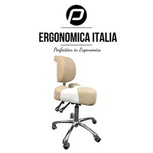 Tabouret Ergonomica Italia Bruin Wit Model 2019