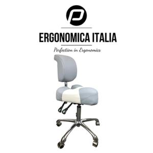 Tabouret Ergonomica Italia Grijs Wit Model 2019