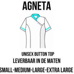 PClinic Unisex Button Top Agneta Maat XL