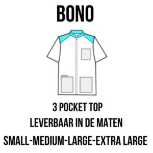 PClinic Unisex 3 Pocket Top Bono Maat S
