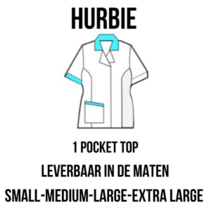 PClinic Unisex 1 Pocket Top Hurbie Maat S