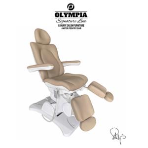 Behandelstoel Olympia met gedeelde beendelen Royal Cappuccino Bruin