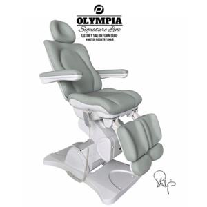 Behandelstoel Olympia met gedeelde beendelen Royal Mint Groen