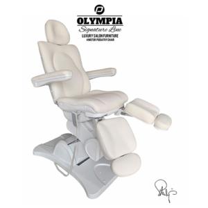 Behandelstoel Olympia met gedeelde beendelen Royal Wit