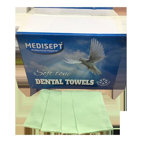 Medisept Dental Towels Soft Tone Kleur Groen Extra Zachte Kwaliteit