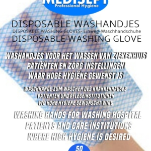 Disposable washandjes per 50 stuks