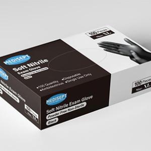 MEDISEPT® Soft Nitrile Handschoenen Maat XL Zwart