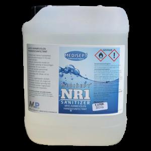 Medisept Nr.1 Sanitizer 5 Liter incl. aftapkraan en navulsprayflesjes
