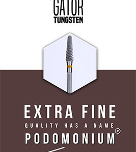 PodoMonium Tungsten Frees Podo Gator Extra Fine