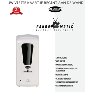 Pandamatic Vloeistof Dispencer met Sensor Wandmodel