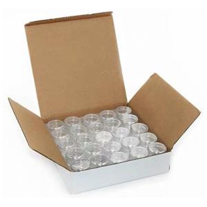 Kunststof Doorzichtige Potjes 15 ml met Deksel - Doos 50 Stuks