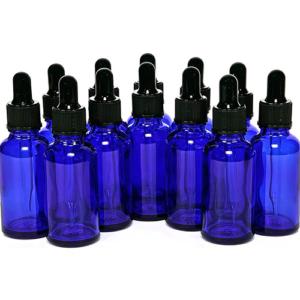 Flesje Blauw 30ml met Pipet en Mini Trechtertje - 12 stuks