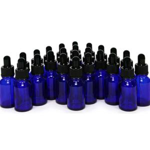 Flesje Blauw 15ml met Pipet en Mini Trechtertje - 24 stuks