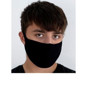 Stoffen Masker - 2 Laags - met optie voor filter - Kleur: Zwart - per 3 stuks