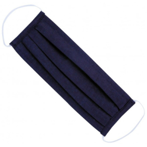 Fashion Mask - 2 Laags - Katoen - Kleur: Donker Blauw