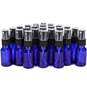 Flesje Blauw 15ml incl. Sprayer met dopje en Mini Trechtertje - 24 stuks