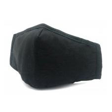Stoffen Masker - 2 Laags - met optie voor filter - Kleur: Zwart - per stuk