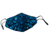 Fashion Mask - 2 Laags - Kleur- Sparkle Turquoise