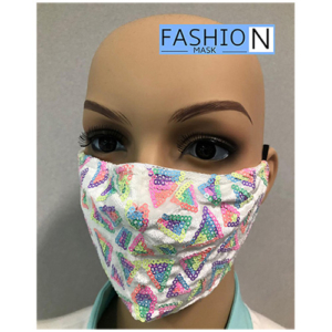 Fashion Mask - 2 Laags - Kleur- Neon