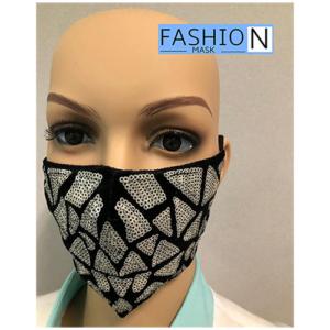 Fashion Mask - 2 Laags - Kleur- Sparkle White