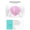 Health masker KN95 - Roze -Pakje 10 stuks