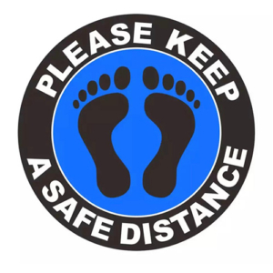 Vloersticker - Please keep a safe distance