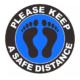 Vloersticker - Please keep a safe distance