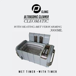 """PClinic Ultrasoon """"Cleomatic 3000"""" met Verwarming en Timer"""